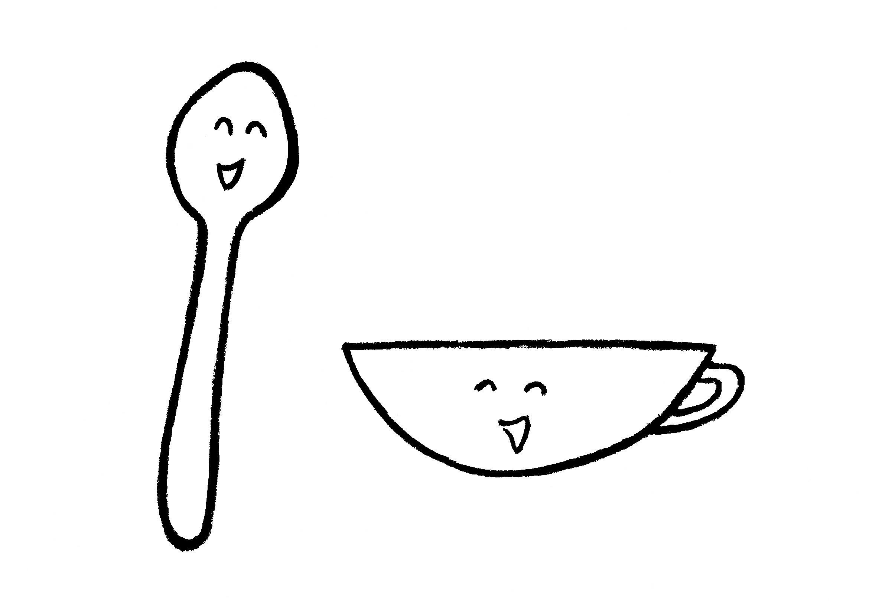 スプーンとカップ